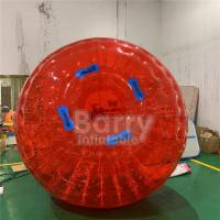 Wholesale Red Outdoor Inflatable Toys 0.8mm PVC / TPU Dia 2.5m 3m Grass Inflatable Zorb Ball from china suppliers