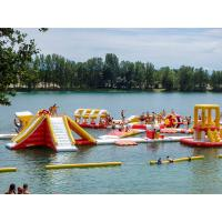 Quality Flame Resistant Lake Inflatable Water Park Maximum 165 People Capacity for sale