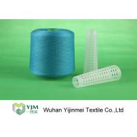 100 Percent Dyed Polyester Yarn With Staple Fibre Material For Sewing / Knitting Socks
