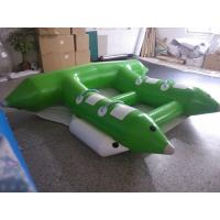 Wholesale Water Game Banana Boat Inflatable Rafts White/ Black Logo Printing from china suppliers