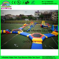 Quality outdoor inflatable water trampoline with slide for sale/ Inflatable Aqua Park/ for sale