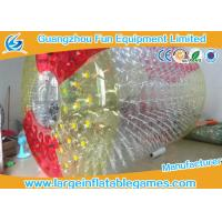 Wholesale Red And Yellow Big Blow Up Human Hamster Ball For Rolling Down Hill / Grass Plot Sport from china suppliers