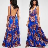 Buy cheap 2018 Summer Women Sexy Maxi Dress Backless Fashion Casual Beautiful Kaftan Dress from wholesalers