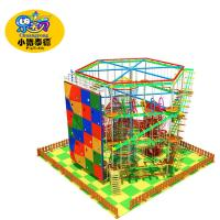 Wholesale 2018 hot sale kiddie and adult indoor one Layer Ropes Course, low ropes course from china suppliers