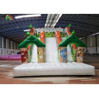 Wholesale Forest Theme Inflatable Dry Slide Green Tree Kids Playground For Commercial Rental from china suppliers