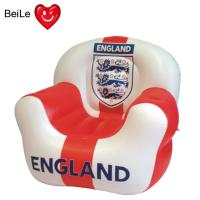 Wholesale Football team sign printed inflatable sofa for World Cup fans from china suppliers
