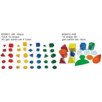 Wholesale Educational Toy, 3D Geo Math Solid Set, Teaching Aids, 10 Shapes 3D Geo Solids Set from china suppliers