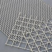 Buy cheap Decorative Crimped Woven 65mn Square Hole Mine Sieving Galvanized Steel Material from wholesalers