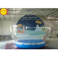 China Custom Giant Inflatable Human Snow Globe / Inflatable Snow Dome for Holiday Advertising on sale