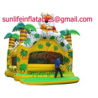 Wholesale inflatable 0.55mm pvc tarpaulin jumping castle BO038 from china suppliers