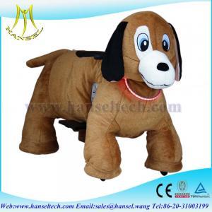 Wholesale Hansel animated plush animals bike motorized child cover animal bikes from china suppliers