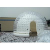 Wholesale Semi Transparent Inflatable Bubble Tent / Yard Tent with white PVC tarpaulin from china suppliers