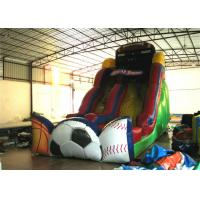 Wholesale Exciting Inflatable commercial dry slide football sport games themed inflatable standard slide from china suppliers