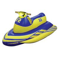 China Customized Durable PVC Inflatable Water Toys Motorboat Rider For Adults on sale