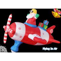 Wholesale Pilot Santa Claus/ Inflatable Santa with Spaceship for Christmas from china suppliers