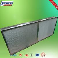 Buy cheap Deep Pleated High Temp Hepa Filter Aluminum Foil Industrial from wholesalers