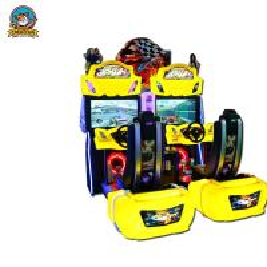 Wholesale Yellow Racing Simulator Arcade Machine , Fun Arcade Racing Game Machine from china suppliers
