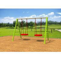Galvanized Steel Swing Sets / Kids Outdoor Swing Set 7-10 Years Service Life