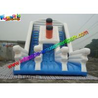 Wholesale Excellent Titanic White / Blue Inflatable Slip And Slide Party Use EN14960 from china suppliers