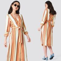 Wholesale 2018 Striped Kimono Multicolor Women Autumn Dress from china suppliers